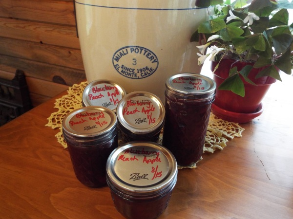 Apple, Blueberry, Peach Preserves